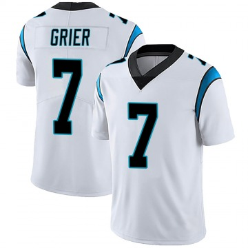 Youth Nike Carolina Panthers Will Grier White Vapor Untouchable Jersey - Limited
