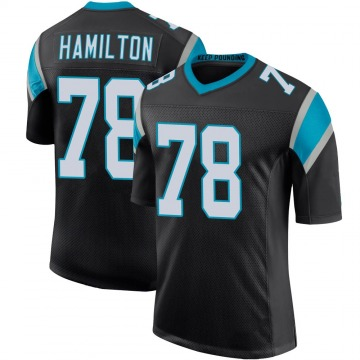 Youth Nike Carolina Panthers Woodrow Hamilton IV Black Team Color 100th Vapor Untouchable Jersey - Limited