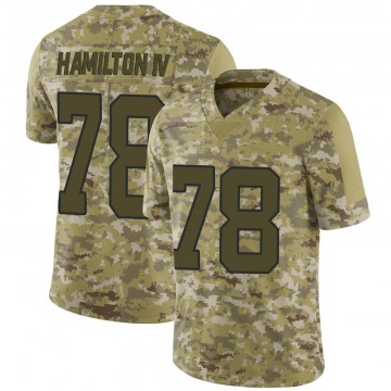 Youth Nike Carolina Panthers Woodrow Hamilton IV Camo 2018 Salute to Service Jersey - Limited