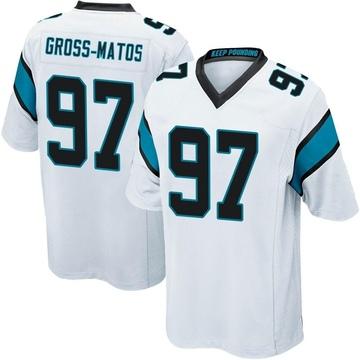 Youth Nike Carolina Panthers Yetur Gross-Matos White Jersey - Game