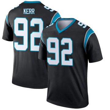 Youth Nike Carolina Panthers Zach Kerr Black Jersey - Legend