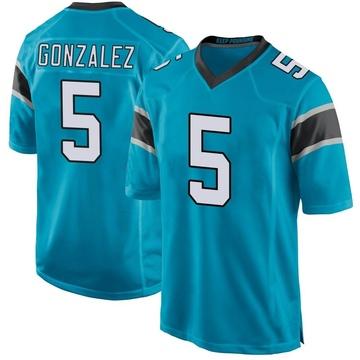 Youth Nike Carolina Panthers Zane Gonzalez Blue Alternate Jersey - Game