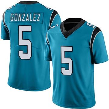 Youth Nike Carolina Panthers Zane Gonzalez Blue Alternate Vapor Untouchable Jersey - Limited