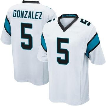Youth Nike Carolina Panthers Zane Gonzalez White Jersey - Game